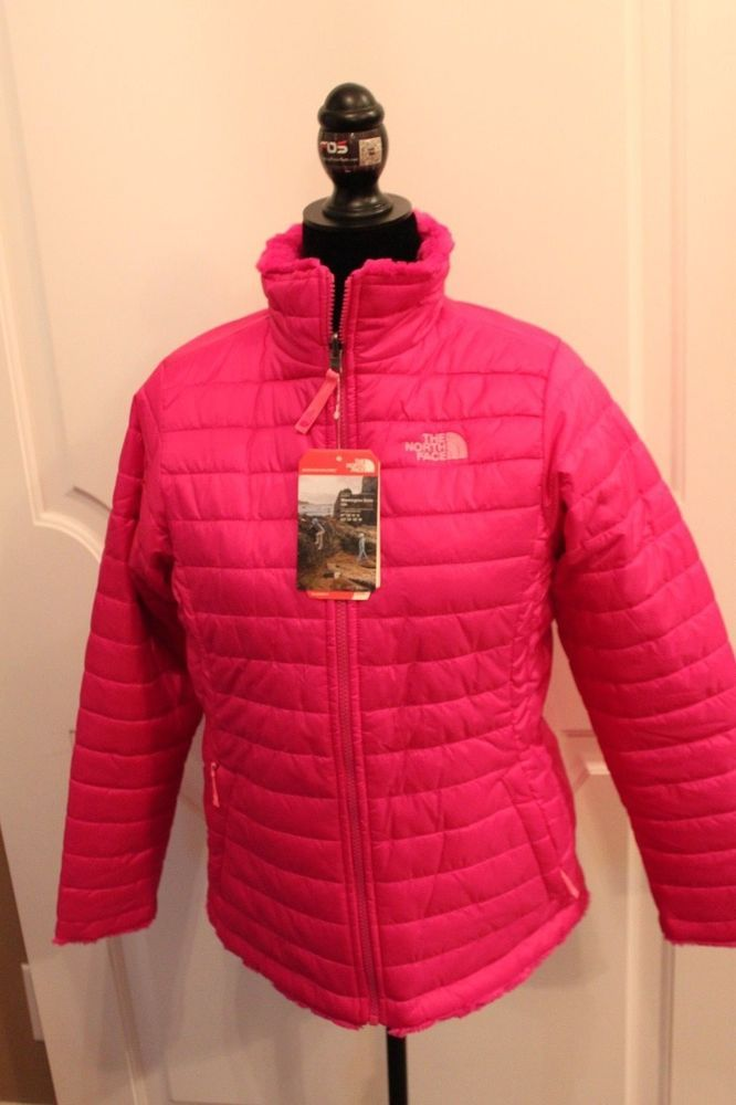 The North Face Girls Reversible Mossbud Insulated Swirl Jacket MSRP $110 NEW