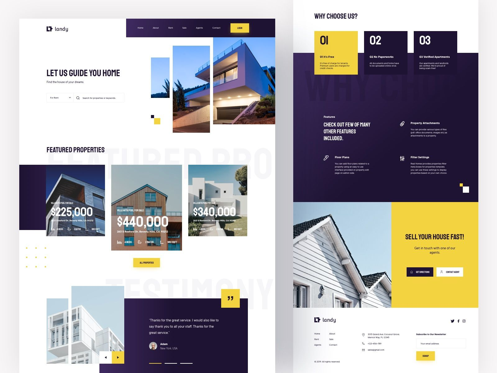 Real Estate Landing Page Design To Promote Your Real Estate Business Http Buff Ly 1r2xfot Real Estate Landing Pages Real Estate Website Design Real Estate