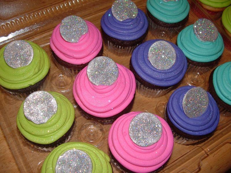 Disco ball cupcakes   Hannah Montana