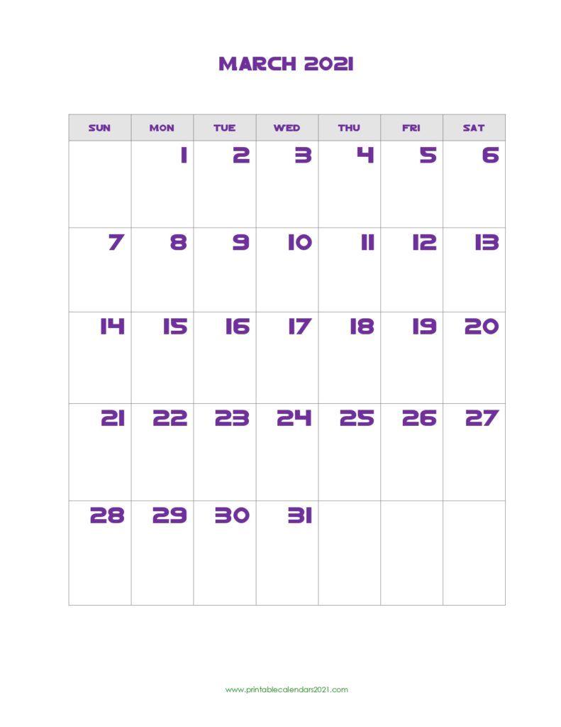 Printable Calendar March 2021 Printable 2021 Calendar With Holidays In 2020 Calendar Printables Printable Calendar July Calendar March