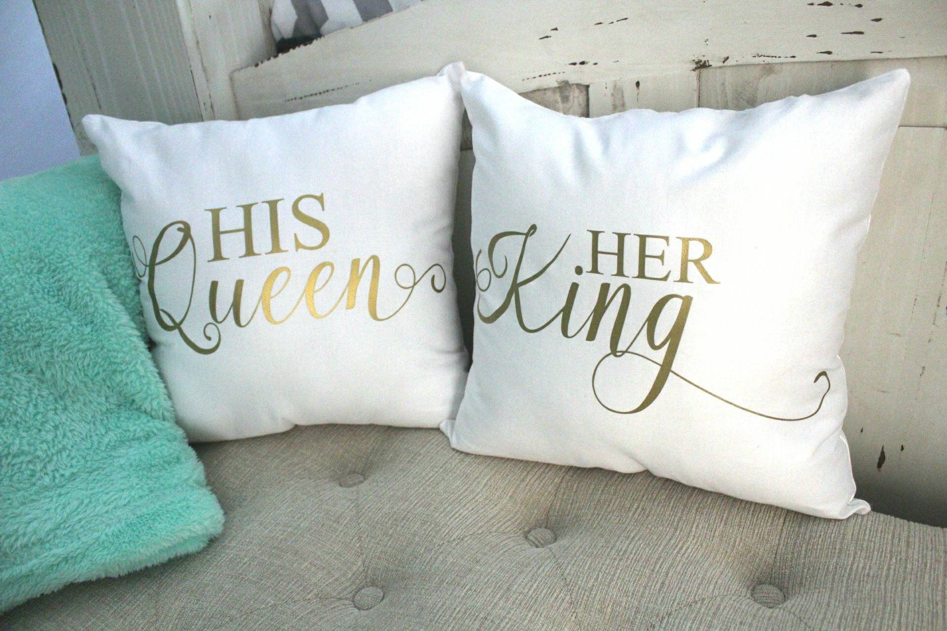 Valentines Gifts Valentines Gifts For Him King And Queen Pillows