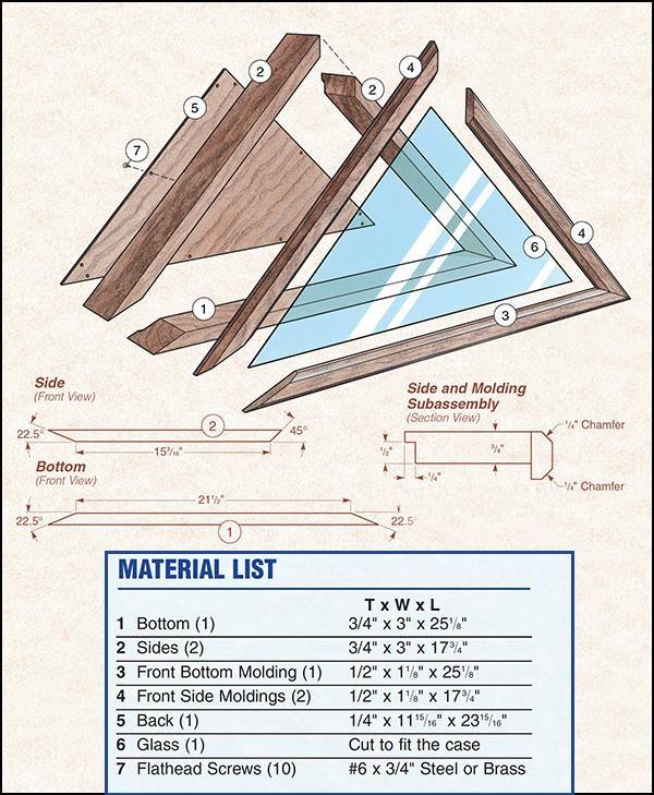 memorial flag case plans | a-woodworking project's | pinterest ...