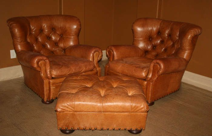 Oversized Leather Chair And Ottoman Nursing Australia Ralph Lauren British Tan Chairs With 1 000 700 Only