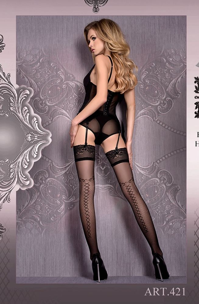 7085ccf46 Shop discreetly for Black Stockings Hold Ups Womens Lingerie Ballerina 421  UK STOCK + FREE SHIPPING - click !  lingerie