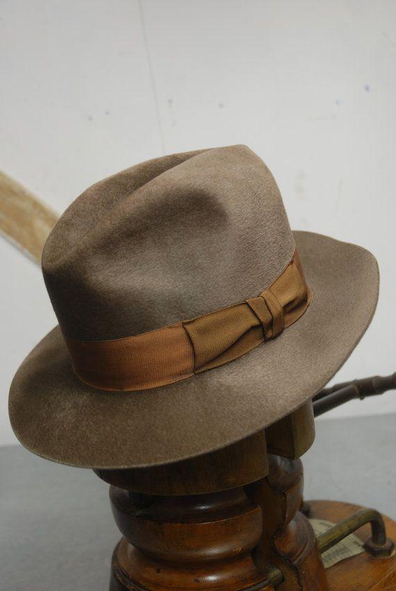 4370e0142b46e Vintage 40 s 50 s German Fur Felt Velour Fedora by TheVintageHatCo ...