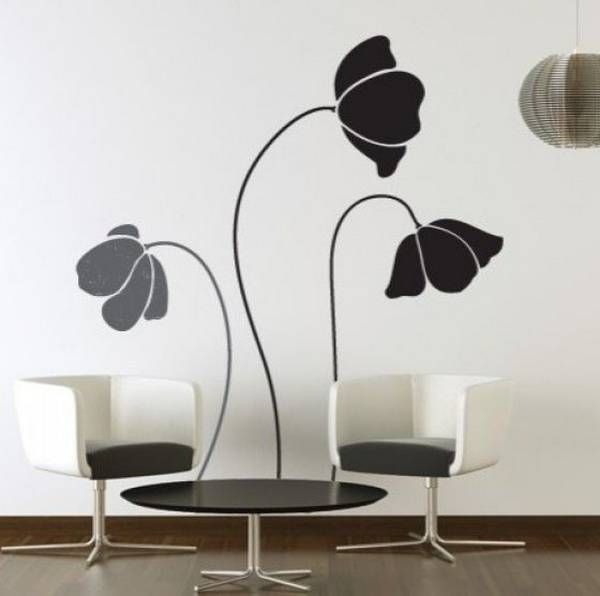 Black and White Wall Decals Decorating Ideas - Best Wall Murals ...