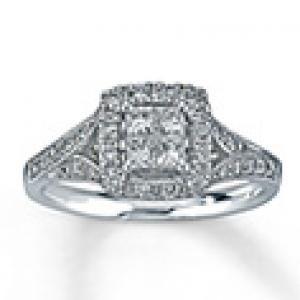 Romantic and Beautiful Diamond Engagement Ring