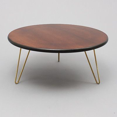 Superbe Table Basse Ronde Annees 50 Pietement Laiton Table Basse Table Basse Ronde Table Beton