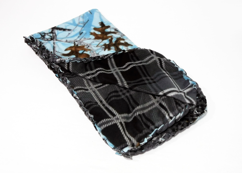 Blue camo fleece blanket fleece no sew blanket blue camo baby boy