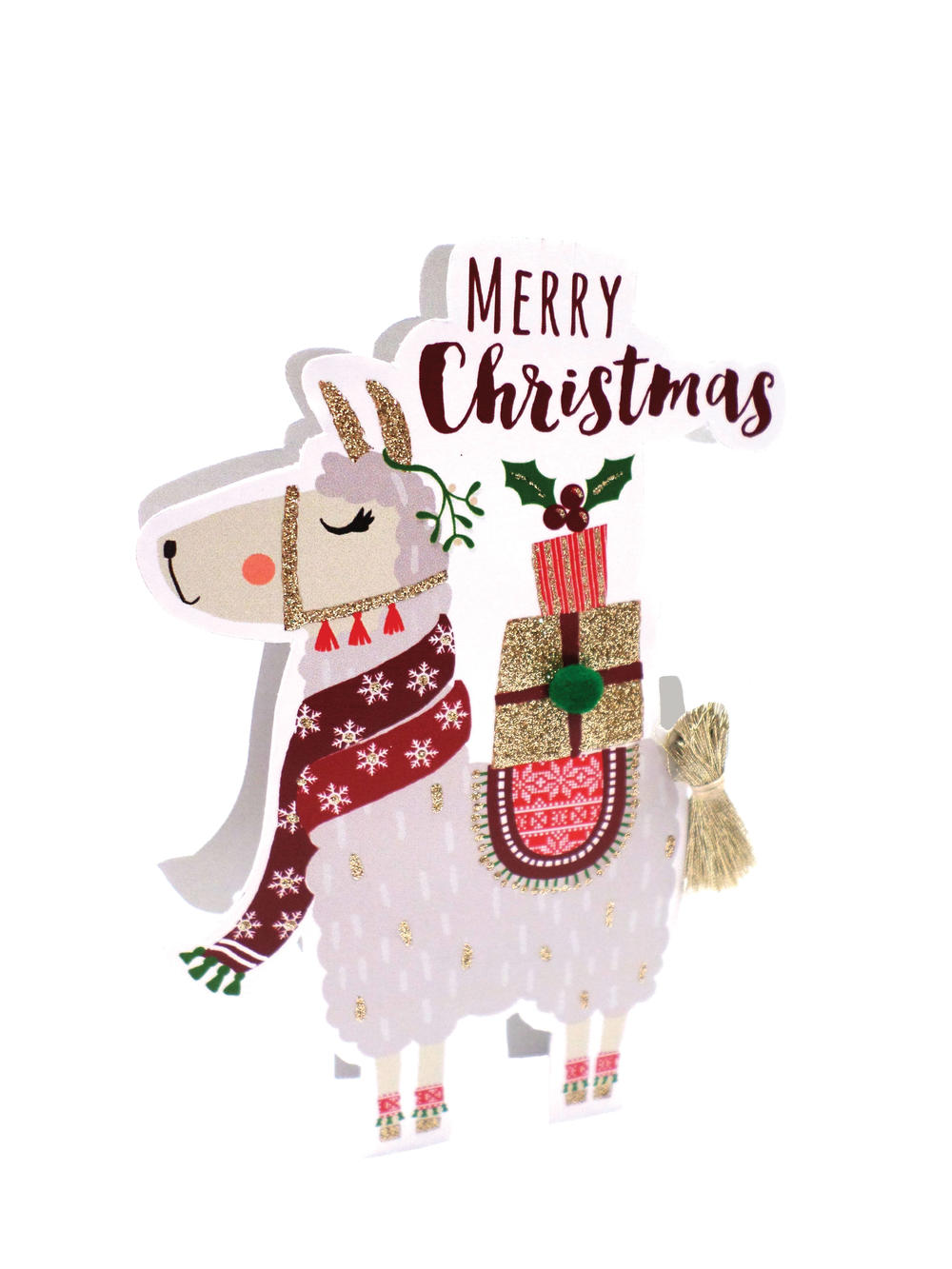 Llama 3D Paper Dazzle Christmas Greeting Card in 2020