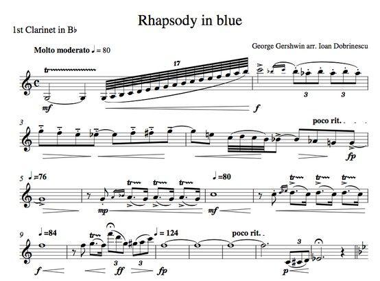 """Clarinet Solo In """"Rhapsody In Blue"""" By Gershwin"""