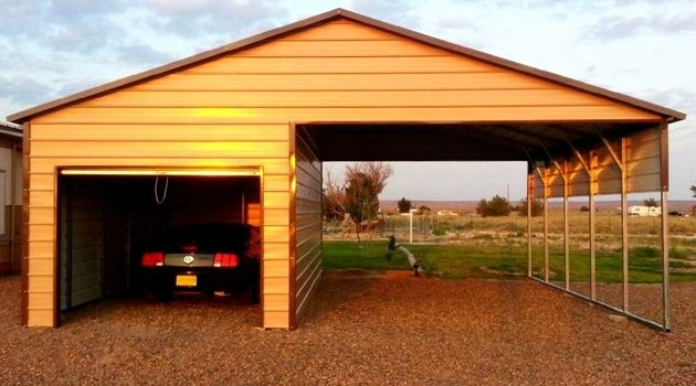 Pin By American Steel Carport Sales On Garages Enclosed Carport Carport Sheds Metal Storage Sheds