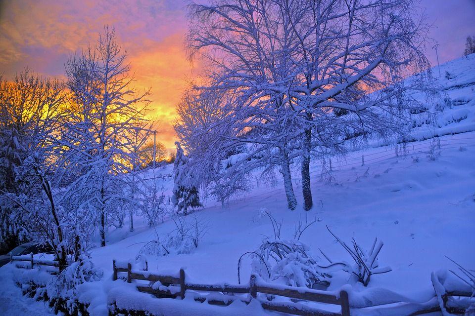 Sunrise, Schnee, Berg, Natur, Winter, Vosges, Barrier
