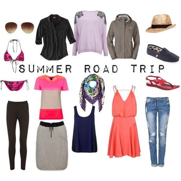 Summer Road Trip by packingforthejourney on Polyvore featuring Milly, Whistles, MARC BY MARC JACOBS, Forever New, The North Face, Warehouse, Rip Curl, TOMS, IPANEMA and Mary Katrantzou