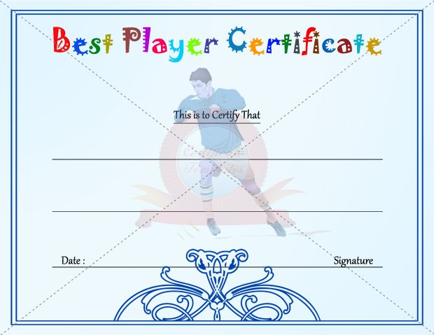 Best Player Certificate Template KIDS CERTIFICATE TEMPLATES - membership certificates templates