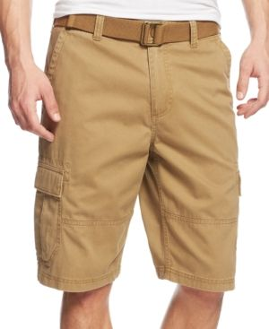 909931d94e American Rag Men's Belted Relaxed Cargo Shorts, Only At Macy's - Tan/Beige  31