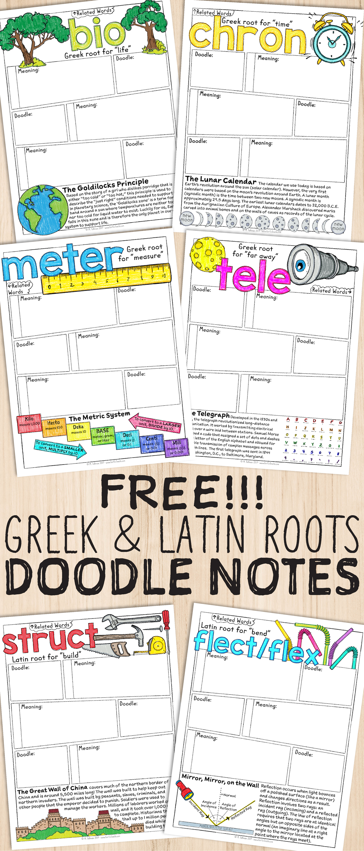 Free Greek And Latin Roots Sketch Notes