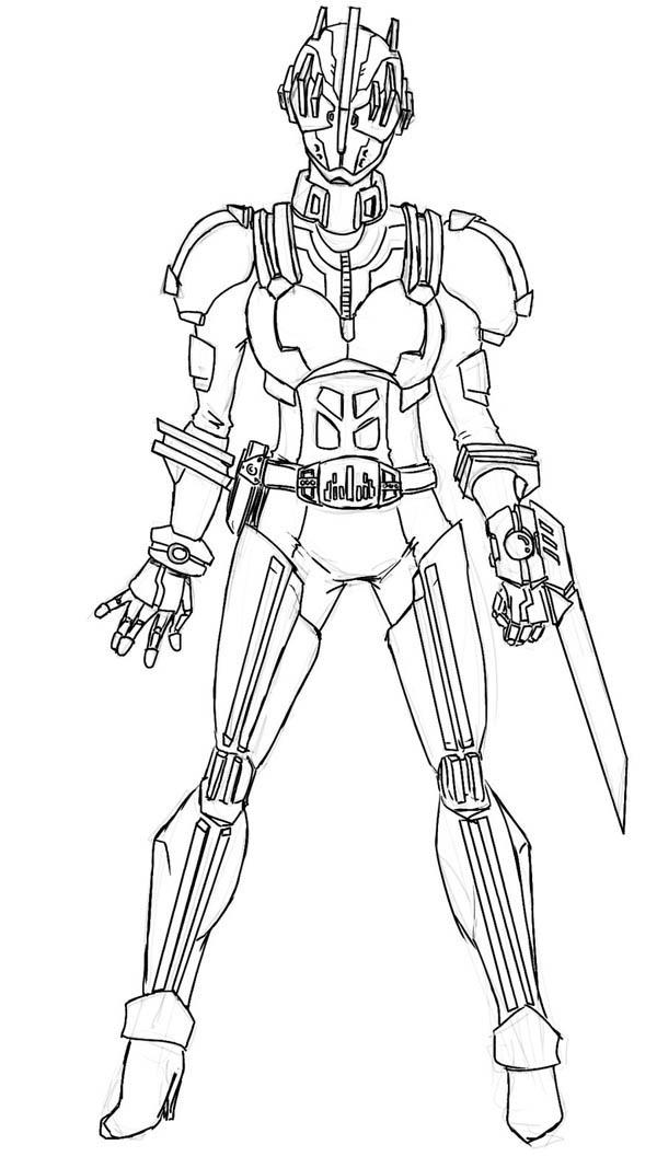 Kamen Rider Hunter Coloring Page Netart