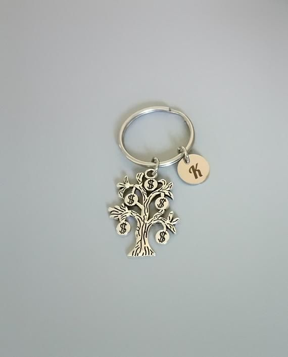 Money tree keychain, funny gift for employees, coworker Christmas gifts (K77) #giftsforemployees