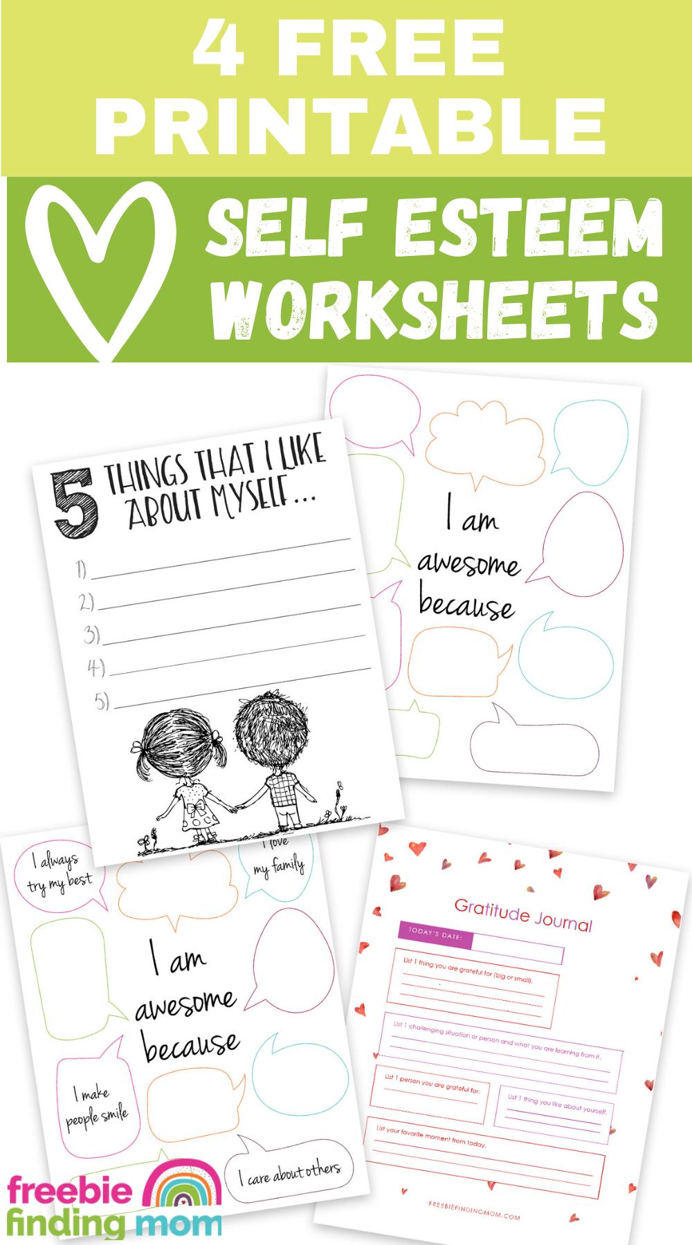 4 Free Printable Self Esteem Worksheets Freebie Finding Mom In 2021 Self Esteem Worksheets Self Esteem Activities Free Printables [ 1800 x 1000 Pixel ]