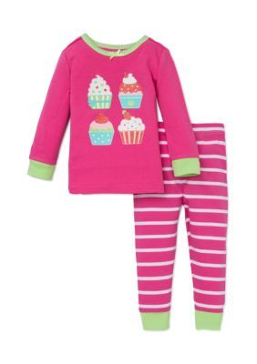 3c2b37fb0 Little Me 2-Piece Cupcake Pajama Shirt and Pants Set