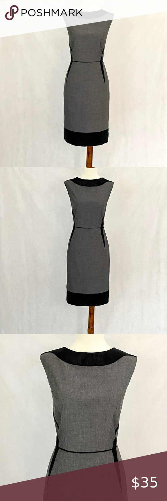 Tahari For Bloomingdale S Sleeveless Sheath Dress Sleeveless Sheath Dress Tahari Slim Fit Skirts [ 1740 x 580 Pixel ]
