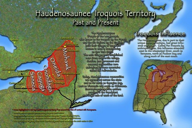 Ancestral Land Areas Of The Six Nations Iroquois By Doug