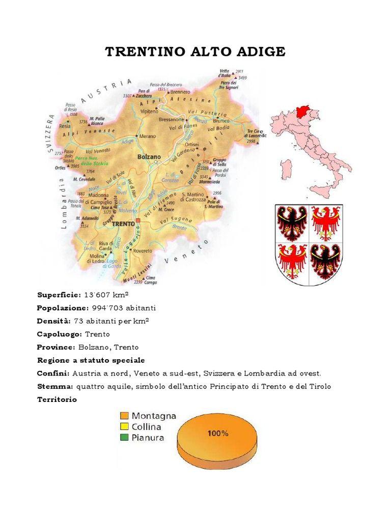 Trentino Alto Adige Cartina Fisica E Politica.Il Trentino Alto Adige Studiare Le Regioni D Italia Classe V Primaria Aosta Valle Map