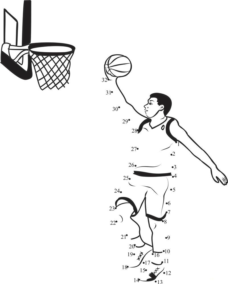 Basketball Activities For Kids Dot To Dot See the category