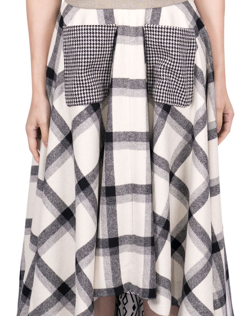 Long Wool Skirt - Black & White | Long skirts, Products and Wool
