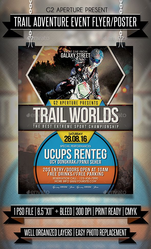 Adventure Sport Event Flyer / Poster | Event Flyers, Event Flyer