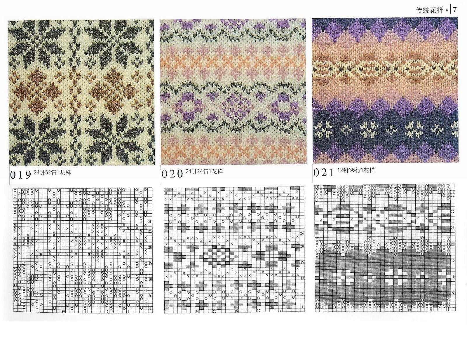 схема рисунка для вязания спицами