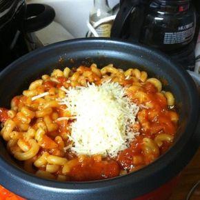 Dorm Recipes: Rice Cooker Pasta Dinner #ricecookermeals