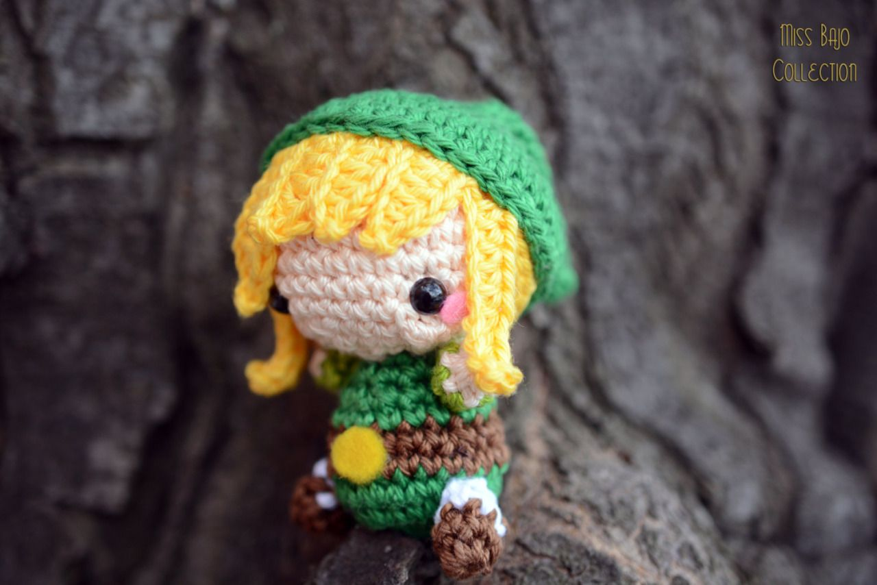 Amigurumi Zelda Pattern : Legend of zelda link amigurumi created by miss bajoavailable