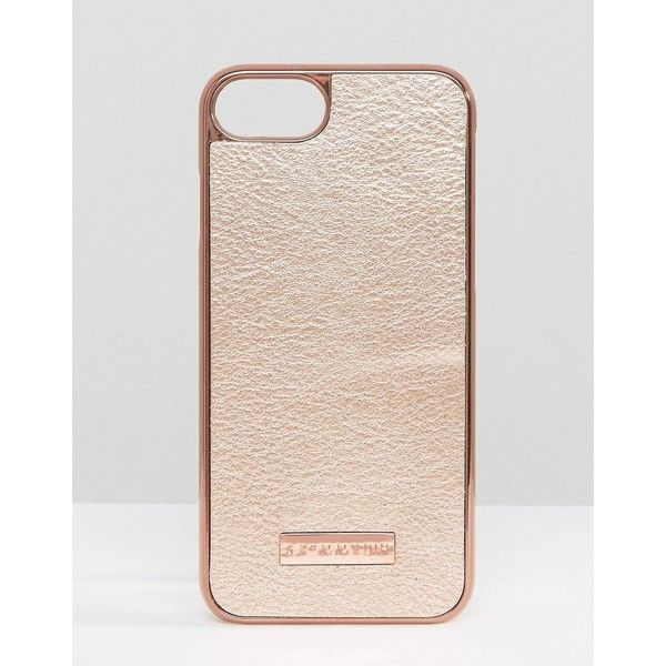 Skinnydip Rose Gold PU iPhone 7 Case ($19) ❤ liked on Polyvore featuring accessories, tech accessories and copper