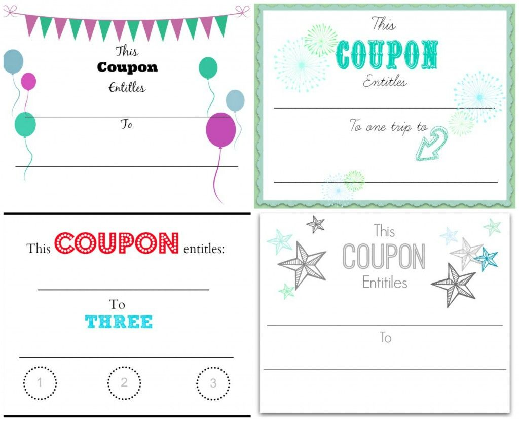 Make Your Own Christmas Coupons Free Printables Coupon Template Free Coupon Template Templates Printable Free