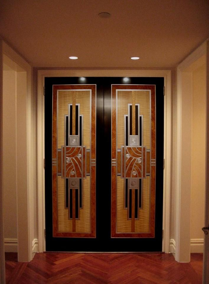 Gorgeous Faux Bois Art Deco Doors For The Homies In 2019