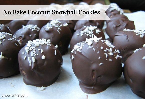 No Bake Coconut Snowball Cookies   These cookies are nourishing, beautiful, incredibly easy (no-bake) and delicious. Just what you want in a cookie!   GNOWFGLINS.com