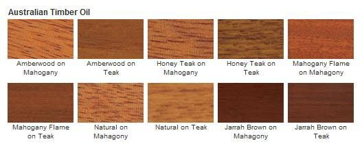 Cabot 3400 series australian timber oil color options - Cabot interior stain color chart ...