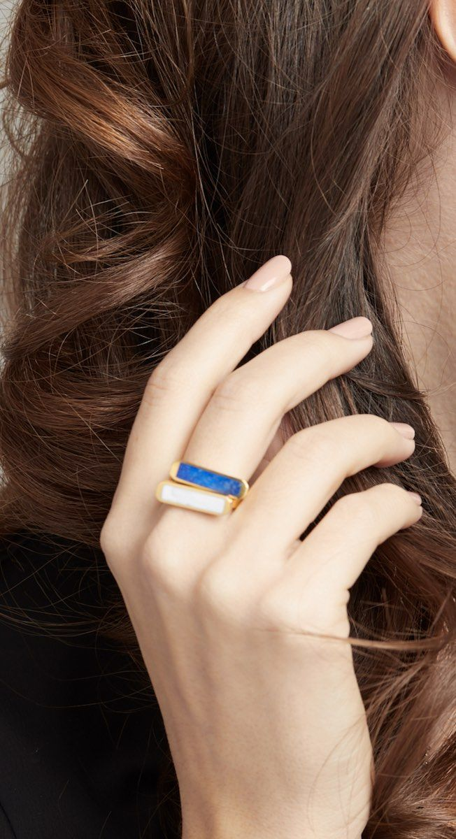 Easy ring stackers. These simple bar rings look great worn together, pick and choose your colours to match your outfit.