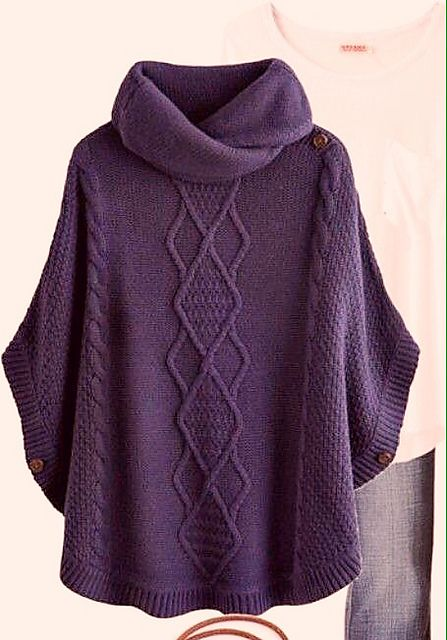 Ravelry Katdrivers Poncho More Crochet Knitting Pinterest