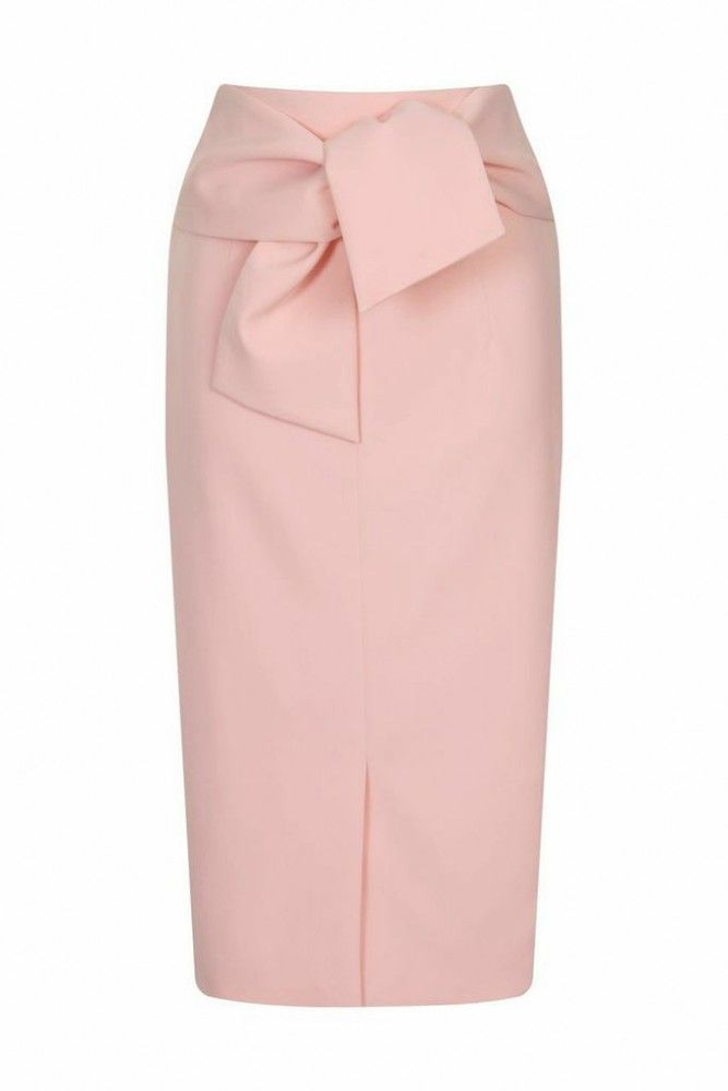 ed1dc06182 Soft Pink Bow Front Pencil Skirt - Bella Sorella Boutique ...