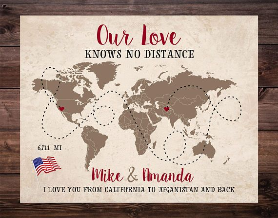 Long Distance Relationship Map World Map Deployment Gift