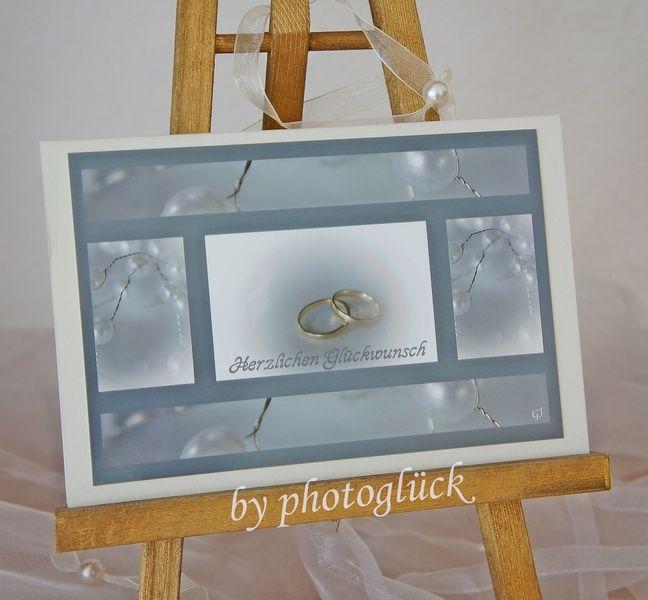 +Herzlichen Glückwunsch zur Hochzeit+    Hochzeitskarte für den schönsten Tage im Leben -  gerne auch als Karte zur silbernen oder Goldenen Hochzei...