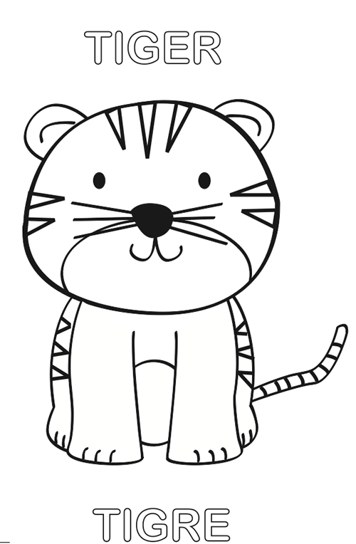 Tigre Para Colorear Proyectos Que Debo Intentar Coloring For