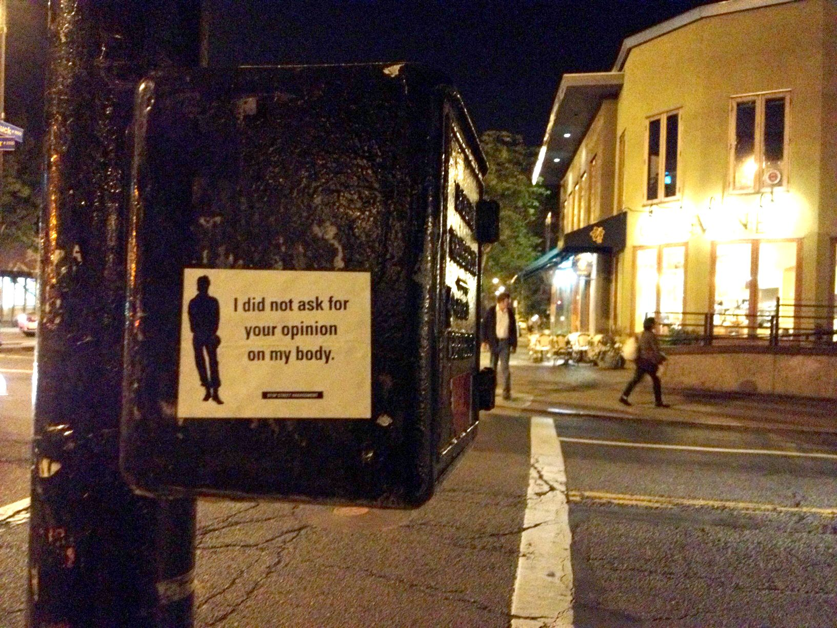 street harassment | Stop Street Harassment sticker, Rockridge.