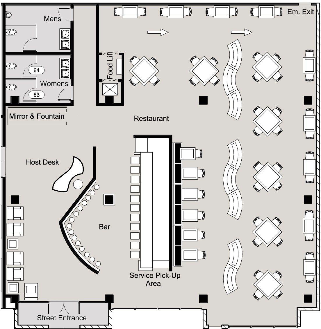 Small restaurant floor plans pinteres for Small restaurant floor plan design