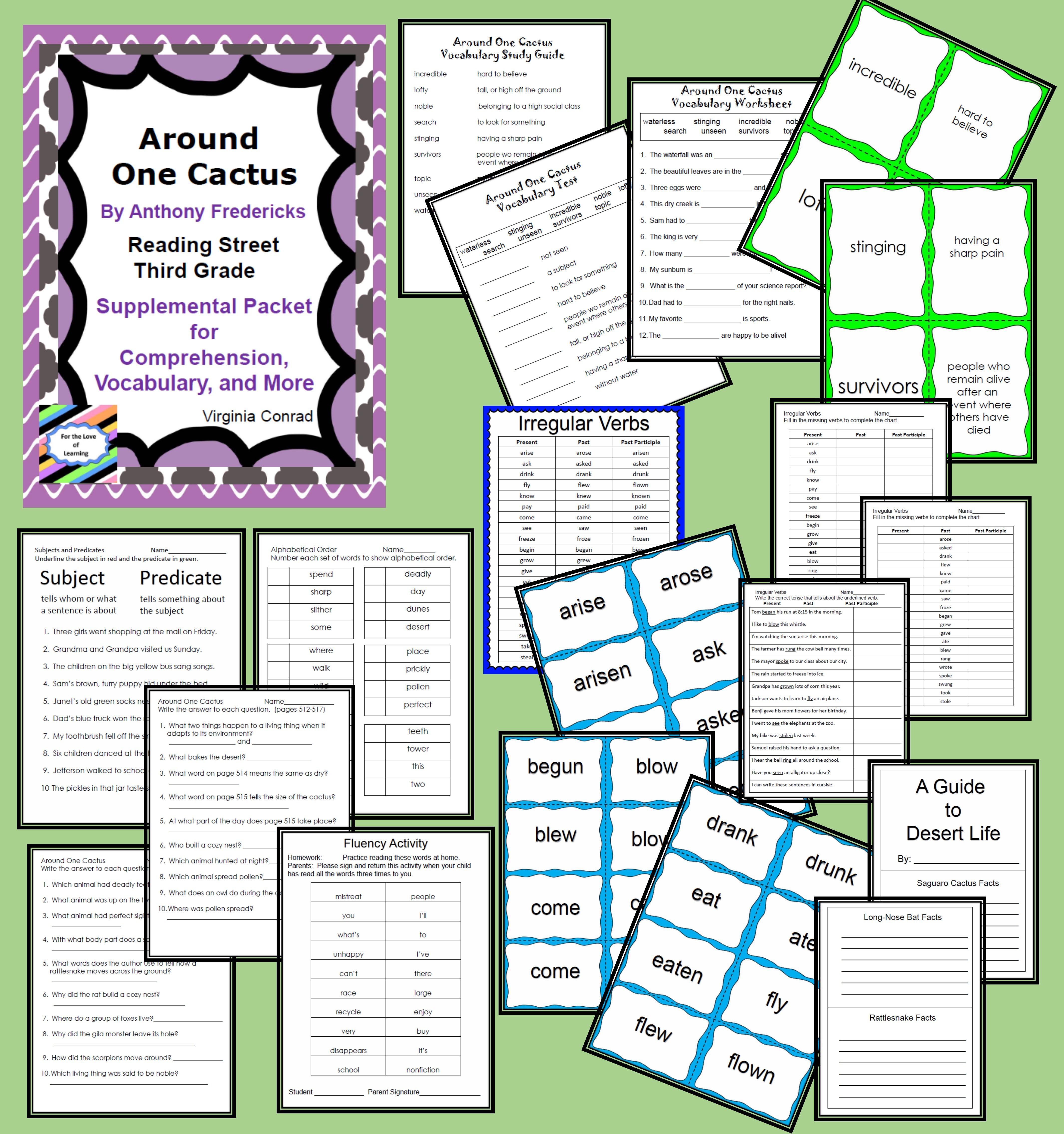 Around One Cactus--Supplemental Packet--Reading Street Third Grade
