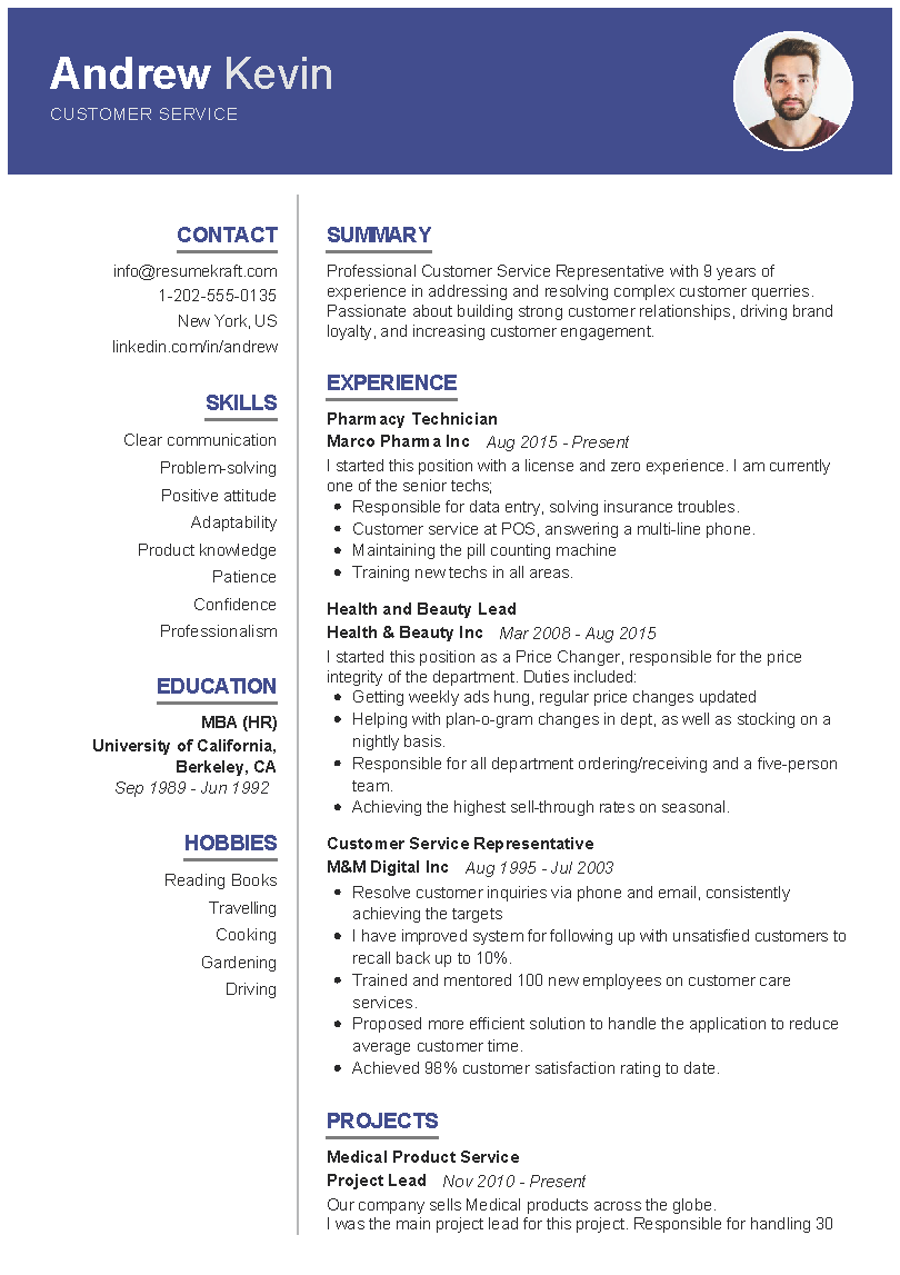 Customer Service Sample Resume In 2020 Customer Service Resume Best Resume Format Professional Resume Examples