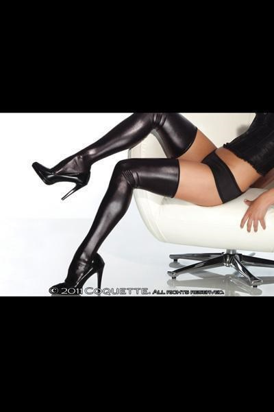 16.99$  Watch here - http://viwvq.justgood.pw/vig/item.php?t=u0w230f16842 - WET LOOK SHINY STRETCH THIGH HIGH VINYL TYPE STOCKINGS - PLUS SIZE AVAILABLE 16.99$
